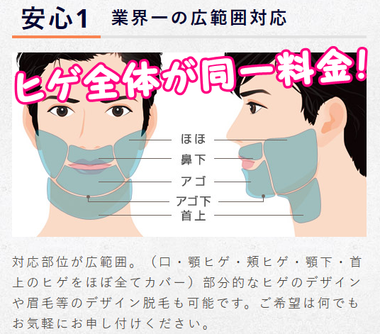 ドクターコバ髭範囲